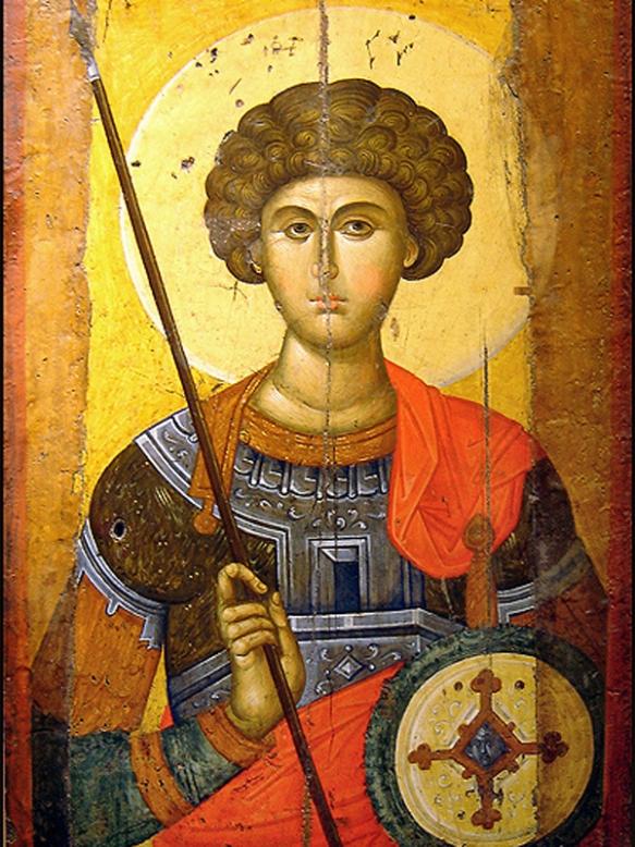 Sfantul Mare Mucenic Gheorghe, icoana bizantina