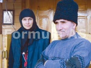 Fratele Ioan si pustnica Serafima, venita din Rusia