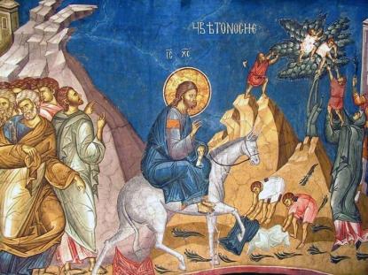 Floriile Intrarea Domnului in Ierusalim